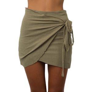 White Fox Black Wrap Skirt